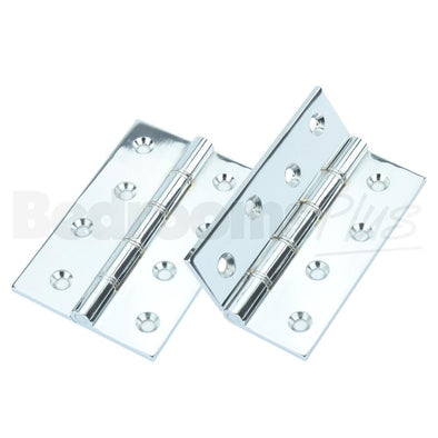 Polished Chrome Brass Interior Butt Door Hinge - Fixings Included - 2 pcs ZC7