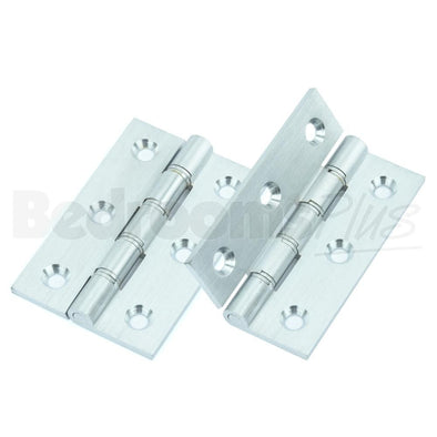 Satin Chrome Interior Butt Door Hinge - Fixings Included - 2pcs ZD3