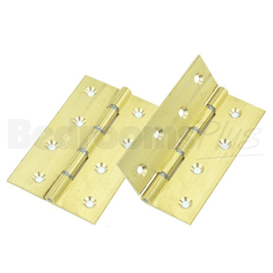 Self Coloured Brass Interior Butt Door Hinge - Fixings Included - 2pcs ZC9