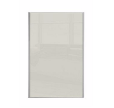 Heritage Silver Frame Soft White Glass Loft / Attic Sliding Wardrobe Door