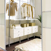 Space Pro Aura Wardrobe Furniture - 900mm WHITE drawer unit & brackets