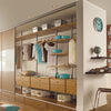Space Pro Aura Wardrobe Furniture - 900mm WHITE shelf & brackets