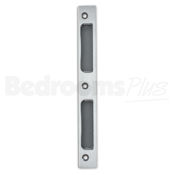 Stainless Steel Strike Door Plate Angled DIN R/L - WC/Bathroom ZB8