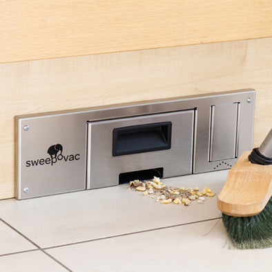 Sweepovac hardwood floor vacuum. Start/stop kick switch