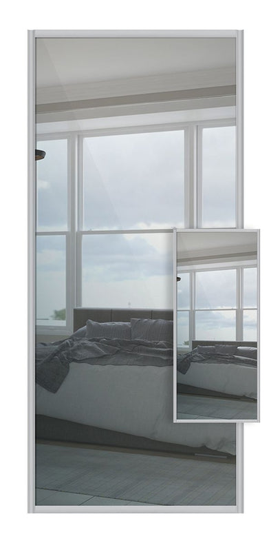Switch Double Sided Sliding Wardrobe Door - Mirror & Mirror