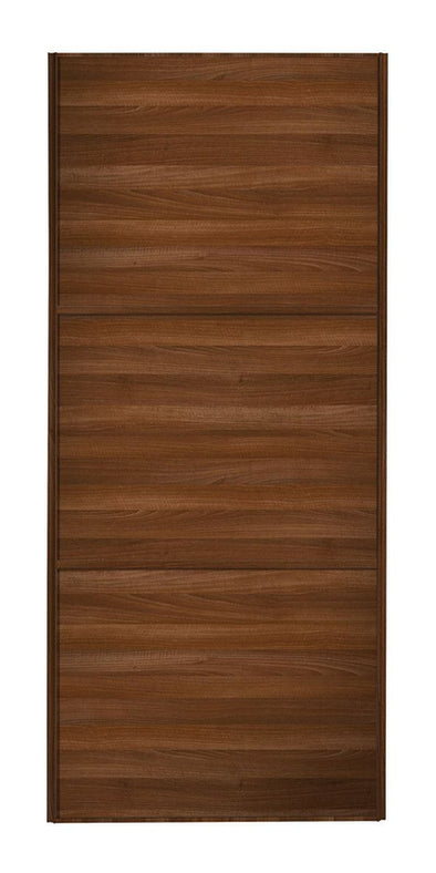 Classic Walnut Frame Walnut/Walnut/Walnut Panel Sliding Wardrobe Door
