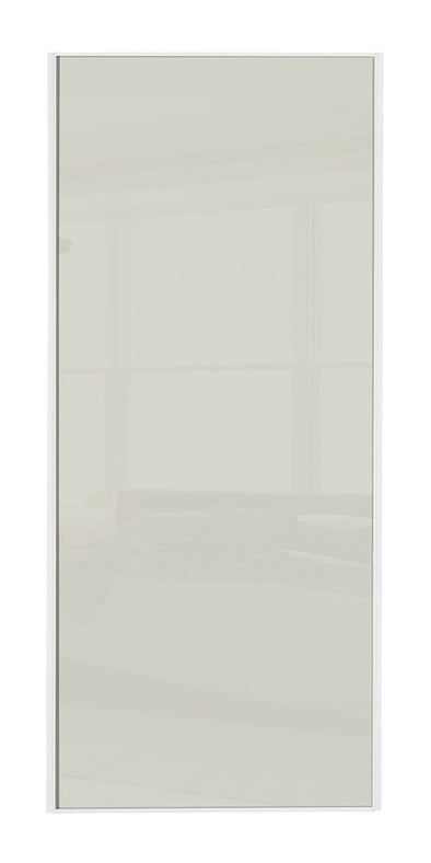 Classic White Frame Soft White Glass Sliding Wardrobe Door