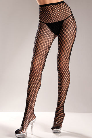 Plus Size Spandex Pantyhose with Weave Design