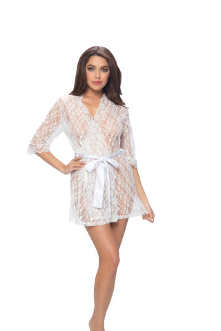 Lace Robe with Belt
