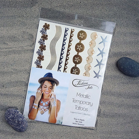 Laguna Gold Metallic Temporary Tattoos