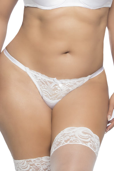 Plus Size Open Back Tanga Panty