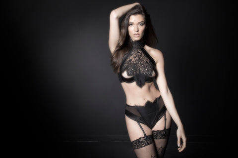 Black Lace High Waisted Panty