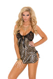 Plus Size Leopard and Lace Chemise