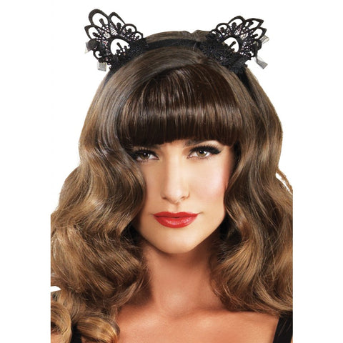 Venise Black Lace Cat Ears