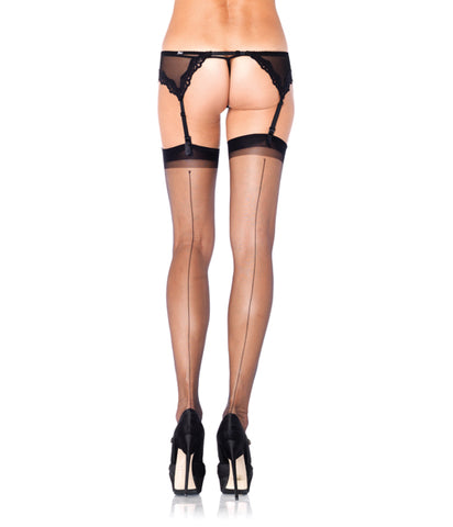 Back Ultra Sheer Stockings with Back Seam