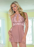Antique Rose Halter Babydoll