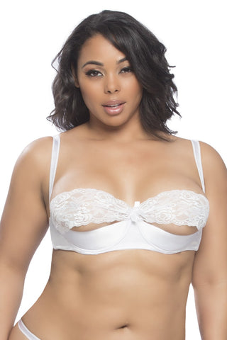 Plus Size Shelf Bra with Lace