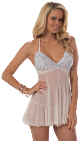 Ivory and Blue Nuptial Chemise
