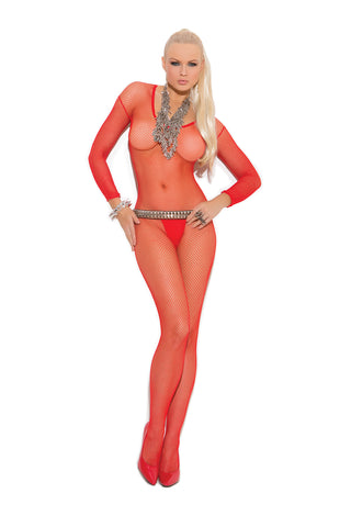 Queen Fishnet Long Sleeve Bodystocking