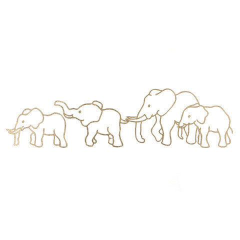 Elephant Love Metallic Temporary Tattoo