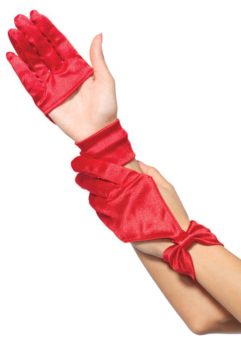 Satin Cut Out Gloves