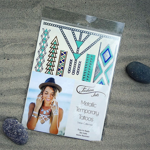 Sakari Pack Metallic Temporary Tattoos