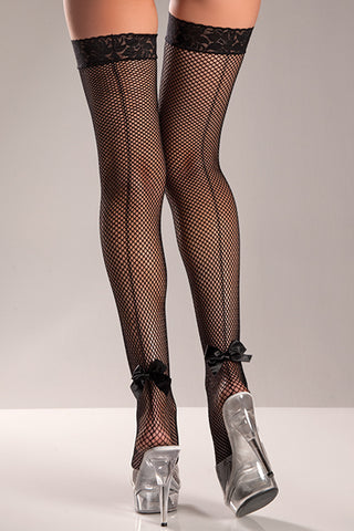 Fishnet Thigh Hi's with Bow