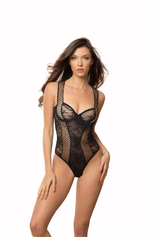 Black Unlined Cup Bodysuit