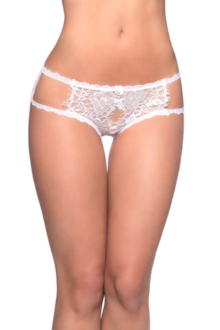 Eyelash Lace Crotchless Hipsters