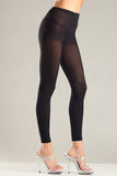 Plus Size Black Opaque Footless Tights