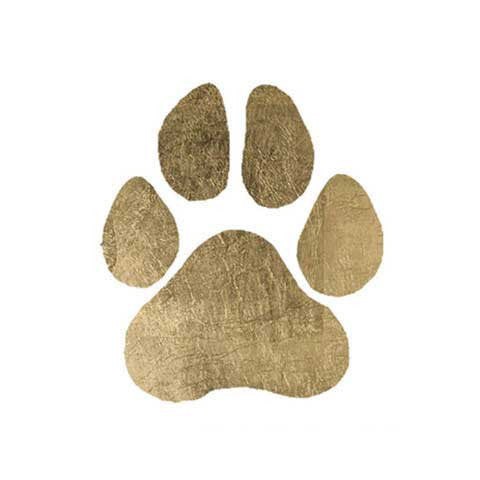 Paw Symbol Metallic Temporary Tattoo
