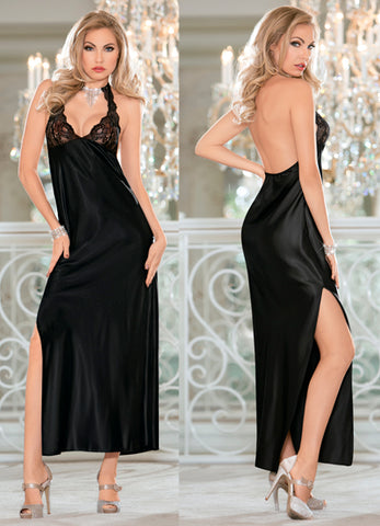 Black Jeweled Gown