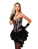Black and Nude Madison Lace Corset