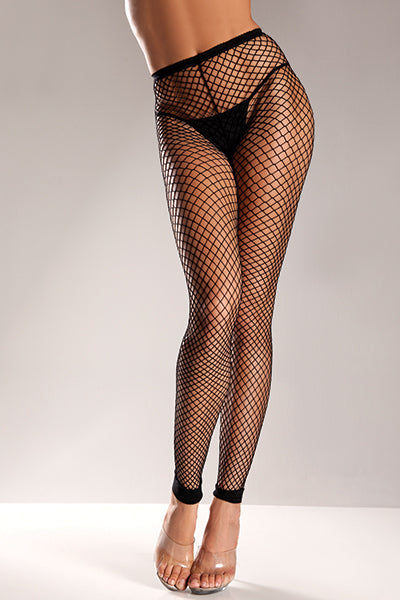 Plus Size Wide Net Footless Nylon Tights
