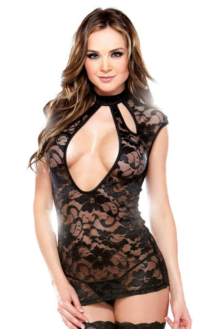 Sexy Dress with Cutout Neckline and Panty