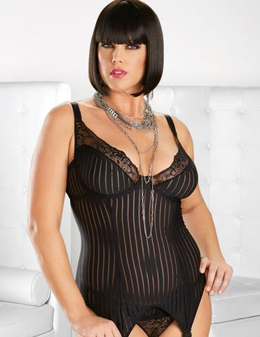 Black Queen Vintage Bustier with Hose