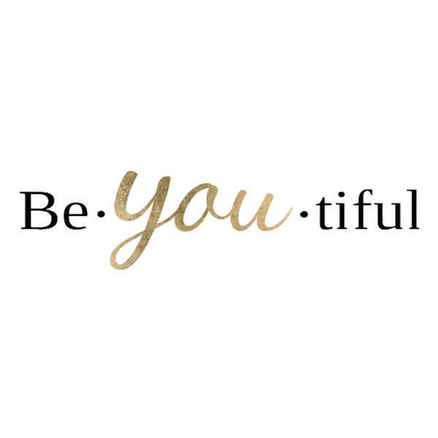 BeYOUtiful Metallic Temporary Tattoo