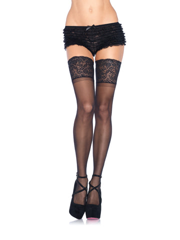 Plus Size Stay Up Sheer Thigh Hi's