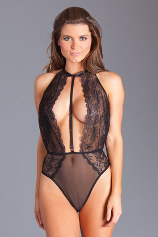 Black Deep Plunge Teddy