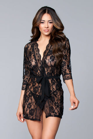 Allover Lace Robe