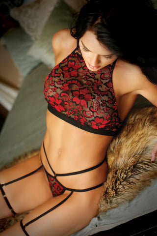 Love Potion Halter Bralette and Panty