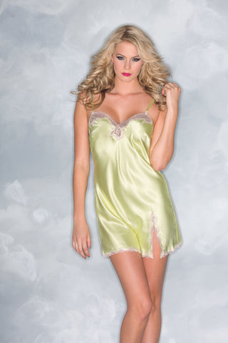 Plus Size Satin and Lace Sleepwear Babydoll