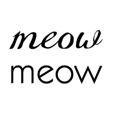 Meow Temporary Tattoos