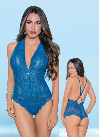 Royal Blue All Lace Teddy