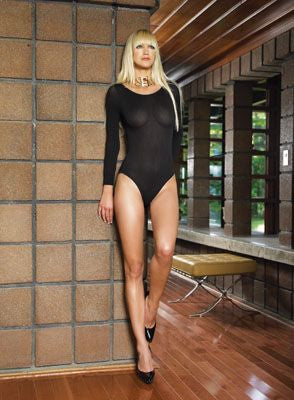 140 Denier Opaque Long Sleeved Bodysuit