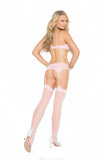 Baby Pink Bra, Garter and Panty Set