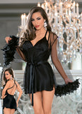 Black Babydoll and Robe Set