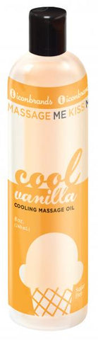 Massage Me-Kiss Me Edible Cooling Oil - 8 oz