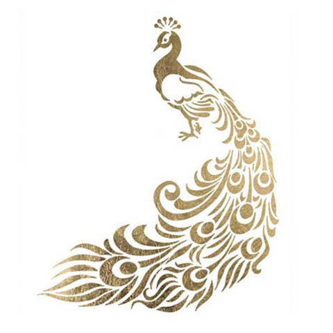 Peacock Metallic Temporary Tattoo