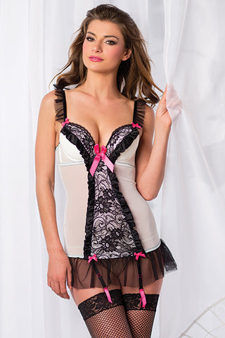 Black and White Cami Suspender